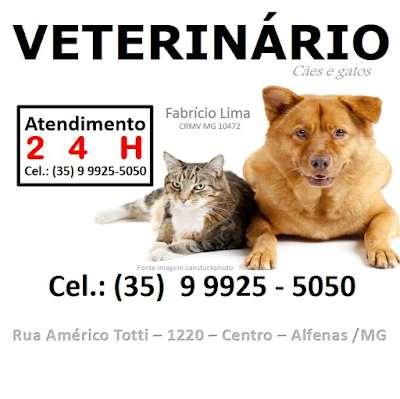 Veterinário Alfenas ( Plantão de atendimento 24 horas celular ) Clínica Veterinária